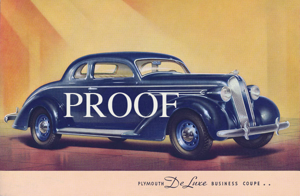 1936 Plymouth Business Coupe