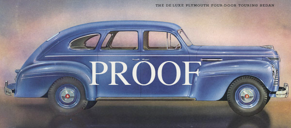1940 Plymouth Deluxe Sedan